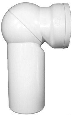 HL 210 WC-Gelenkanschlussbogen weiß