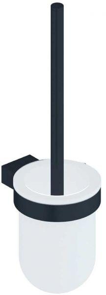 Toilettenbürstengarnitur mit Kristallglas Halterung Edelstahl