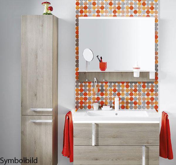 Burg-Badmöbelset Eqio 1220mm (Waschtisch+Unterbau+Spiegel+Hochschrank) Option mit Montage