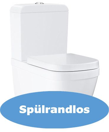 Grohe 39338 Stand-Tiefspül-WC Euro spülrandlos, weiß
