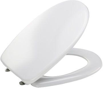 MKW WC-Sitz m.Deckel Euro 3000 Plus mit Kunststoffscharnier weiss