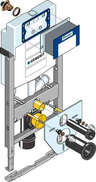 Huter 1023 Montagegestell mit Absaugung für WC Leichtbau
