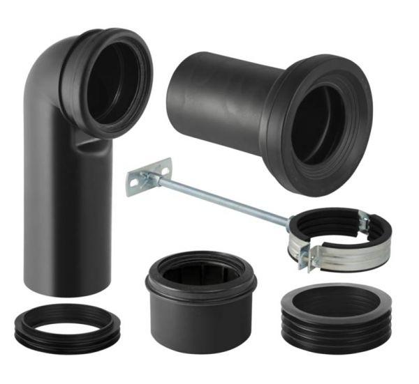 Geberit Anschlussgarnitur für Stand-WC 90/110 mm
