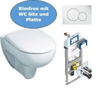 Geberit Wand WC Set spülrandlos mit Unterputzspülkasten Huter 1020