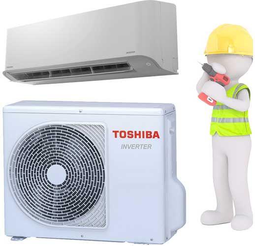 Toshiba Split Klimagerät Set 2,5kW mit Montage und Inbetriebnahme