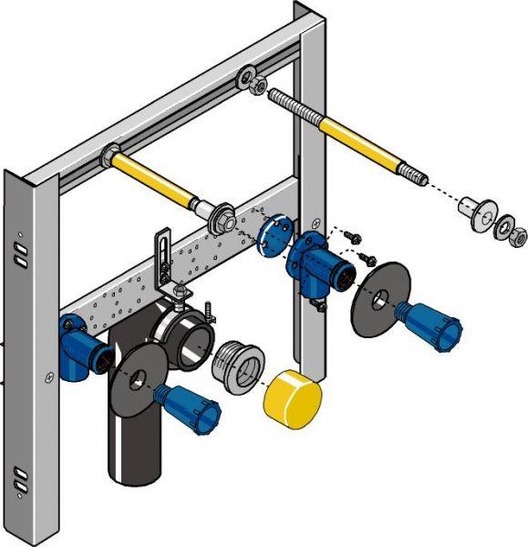 Huter 2011-M Waschtisch-Montageelement