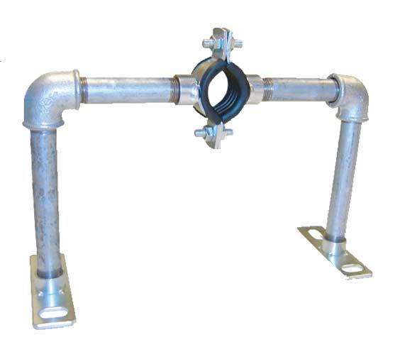 Austroflex Fixpunktschelle single1 x 63 mm für Fernwärmerohr