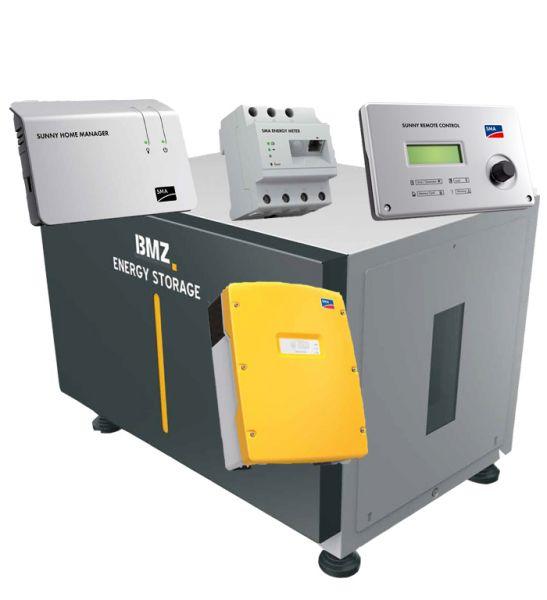 BMZ ESS 9.0 Speicher-Set mit SMA Wechselrichter und Zubehör vorbereitet für Notstrom
