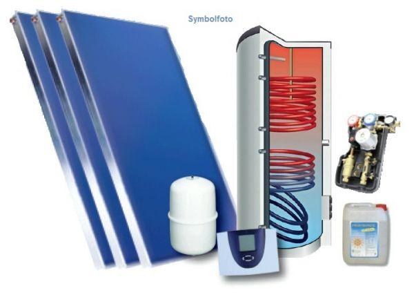 Solar-Set 17,5 m2 Aufdach und Hygienespeicher 1000 l inkl. Regelung und Zubehör