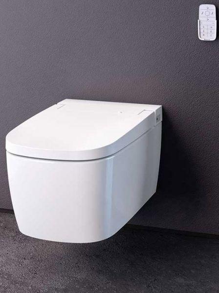 Vitra wand WC Komplettset spülrandlos mit Dusch WC Sitz weiss inkl.Touch-Fernbedienung