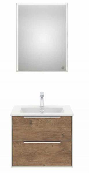 Artiqua Badmöbel Premium WT Set mit Led Spiegelschrank 610 mm