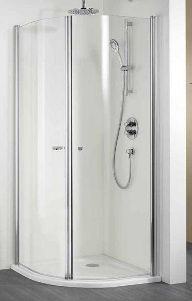 HSK Runddusche EXKLUSIV 900 X 2000 mm, Echtglas, klar, silber matt