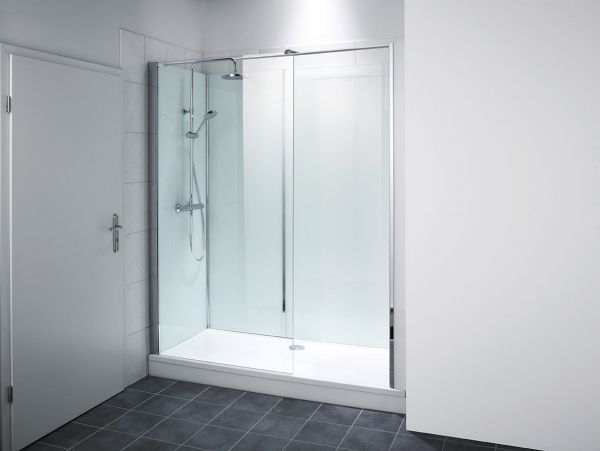 """repaBAD """"Dusche auf Wanne"""" f.Nische kürzbar Einstieg rechts"""