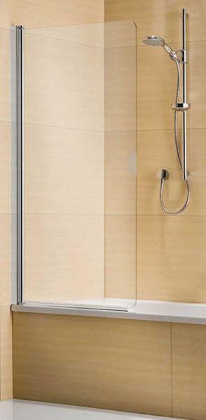 Duka Multi-S 4000 Wannen-Faltwand 800 mm silber, ESG Glas