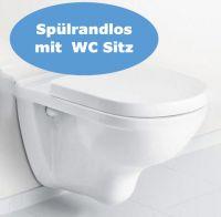 Villeroy und Boch Wand WC Set spülrandlos 5660 mit Ceramicplus