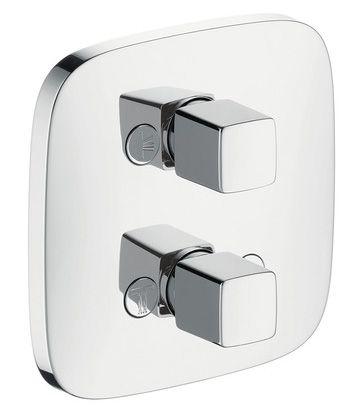 Hansgrohe Sichtteil Thermostat iControl Ab-und.Umstellventil, verchromt für 3 Verbraucher, 15777